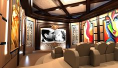 building home theatre seating | ... Research, Design, And Build A Home Theater - Step By Step Design Plans