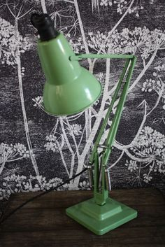 Herbert Terry anglepoise lamp in light green - Lovely and Company Desk Lamp, Table Lamp, Anglepoise Lamp, Lamps, Indoor, Lights, Green, Modern, Vintage