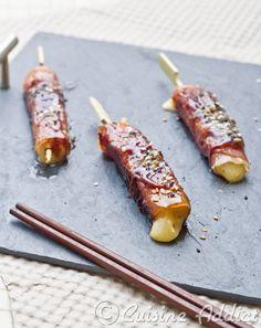 Yakitori mi-Japonais, mi-Auvergnat au Cantal & Jambon d'Auvergne - Cuisine Addict - Recettes faciles et bluffantes!