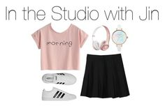 """In the Studio with Jin"" by kookiechu ❤ liked on Polyvore featuring WithChic, Supra and adidas"