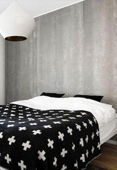 black, white and concrete | White Stout Beat light by Tom Dixon