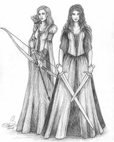 Sela and Marina. Add some armor, get rid of the flowy bits and this could be some badass looks for the girls.