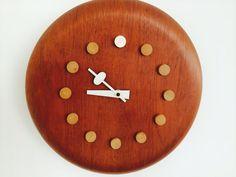 George Nelson Howard Miller Midcentury Clock 1957 by rockybird, $699.00
