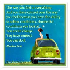 The way you feel is everything...  *Abraham-Hicks Quotes (AHQ490)