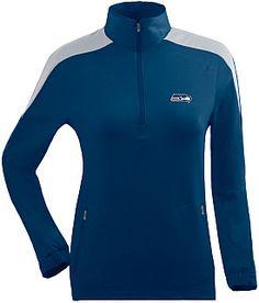 Antigua Women s Seattle Seahawks Succeed Front Fleece Half-Zip Pullover  Half Zip Pullover 5fa3da24b