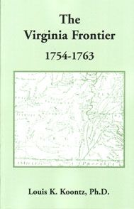 This item is an E-BOOK, not a paperback or cloth book, and not a CD.PDF: The Virginia Frontier, 1754-1763 - Louis K. Koontz, Ph.D. This work provides a history of the Virginia frontier during the French and Indian War. At that time Virginia's frontier extended from the vicinity of Pittsburgh, Pennsylvania, south to the Carolina border. In addition to the topography of the area, Indian trails and migration routes, the author discusses at length the roles of Governor Robert Dinwiddie and ..