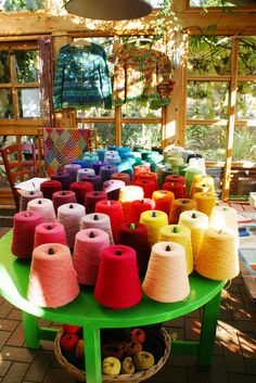 The color selection is large. Knitting Yarn, Wool Yarn, Bunt, The Selection, Inspiration, Atelier, Winter Garden, Cottage Chic, Threading