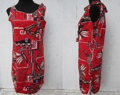 Alfred Shaheen Dress / Shaheen Summer Dress S / 60s Vintage Hawaii Dress.