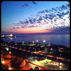 Sea, Sunset, Beach..... Evening view from Dan Panorama #TelAviv  I stayed here with that gorgeous view