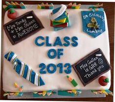 End of year School leaving cake. Teacher Cakes, School Leavers, Leaving School, School Cake, Just Cakes, Cupcake Cakes, Cupcakes, Primary School, Amazing Cakes
