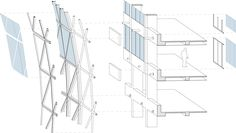 Image result for diagrid facade section