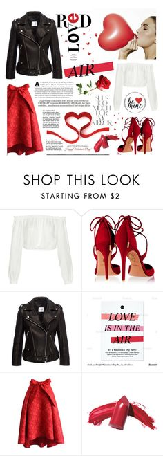 """""""happy valentine's day, everyone. <3"""" by tatjana ❤ liked on Polyvore featuring Elizabeth and James, Aquazzura, Chicwish, Rika, Whiteley, Elizabeth Arden, women's clothing, women, female and woman"""