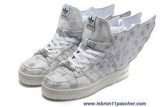 Adidas X Jeremy Scott Wings 2.0 Chaussures Gris En Ligne