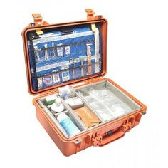 Pelican 1500 EMS Case, Orange with EMS Organizer and Divider