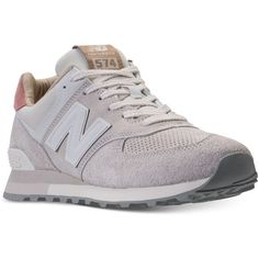 New Balance Men's 574 Premium Casual Sneakers from Finish Line ($100) ❤ liked on Polyvore featuring men's fashion, men's shoes, men's sneakers, mens shoes, new balance mens shoes, mens sneakers and new balance mens sneakers