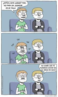 Amigo chulito con los videojuegos.