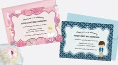 First Holy Communion Invitation by Silently Screaming Designs