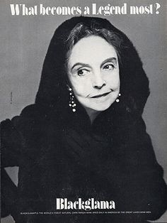"""Lillian Gish - Blackglama Mink """"What Becomes A Legend Most?"""" Ad Campaign (1979)."""
