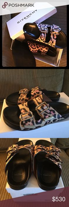 Givenchy Leopard sandals Birkenstock style from Givenchy. Worn less than 10 times. Come with two dust bags and original box. Thx for looking ✨ Shoes Sandals