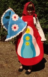 Matryoshka doll costume!    Michele Maximova this would be cute for Tasiya to wear for Halloween this year!