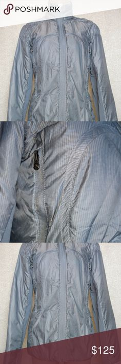 run turn around goose down jacket white/grey Previously owned lululemon goose down jacket. Great condition! Tags have been removed, as this is a reversible jacket! Wish I could add more photos to my listings! lululemon athletica Jackets & Coats Puffers