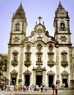 """""""Igreja Matriz de Santo Antônio"""". Recife. Estado de Pernambuco, Brasil."""