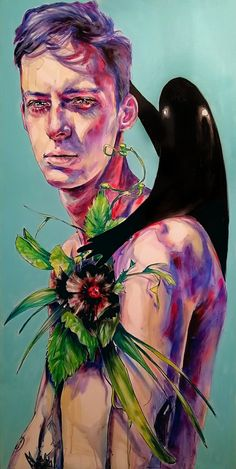 Stai con me Acrylic on canvas 60x120