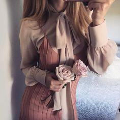 CHAMPAGNE & ROSÉ | The color palette today in the Belle Blouse & Simone Tank Mini Dress | #ForLoveandLemons