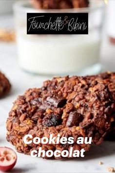 Découvrez notre recette de cookies au chocolat avec 3 ingrédients ! Breakfast, Food, Snack Recipes, Yummy Recipes, Healthy Recipes, Cooking Recipes, Morning Coffee, Essen, Meals