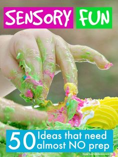 I've put together a list of 50 #sensoryplay ideas that need absolutely no preparation. Perfect for #toddlers and #pre-schoolers #Parentingtips #kids