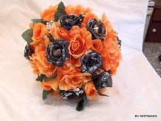Camo Wedding Bouquet Bridal Bouquet Mossy by BouquetsByKeepsakes