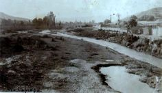 Río Copiapó.  Aquí se ve una fotografía de un día normal del año 1940, más o menos a la altura del Callejón Diego de Almagro.