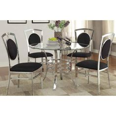 Xoom Furniture We Finance 0 On Interest 90 Days Same As Cash No Credit Check Glass Top Dining TableDining