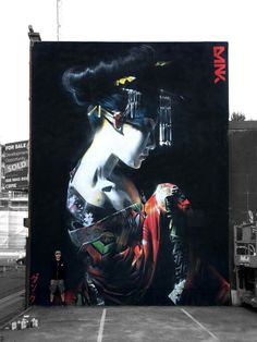 DANK - 'The Dream' - Belfast / Northern Ireland / 30ft x 20ft / freehand spray paint