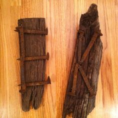 Railroad ties and nail Monagrom!!!! I made these for each of my boys rooms. They LOVED them! Super easy! Thanks to my friend and her husband for the great idea!!!!