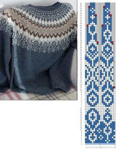 Fair Isle Knitting Patterns, Knitting Machine Patterns, Sweater Knitting Patterns, Knitting Charts, Knitting Designs, Knit Patterns, Punto Fair Isle, Crochet Wool, Pulls