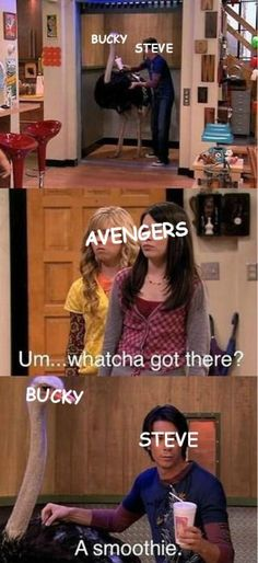 """i love icarly. i was watching icarly and my friend walked in the room. Me: """"which is sadder- that i'm watching icarly or that i've seen this episode before? i love this episode"""" Dc Memes, Marvel Memes, Funny Memes, Funny Quotes, That's Hilarious, Freaking Hilarious, Qoutes, The Avengers, The Villain"""