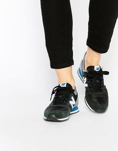 New Balance 420 Black Multi Suede Sneakers