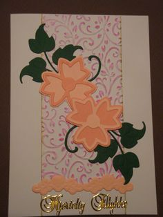 (Made by Susanne Elfrom Nguyen) Kort med blomster