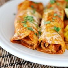 The BEST Red Chile Sauce Chicken Enchiladas. Really. The Best.