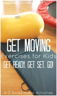 Kids Health Get Moving Kids Exercises For Gross Motor Play - Looking for kids exercises to encourage healthy bodies and minds this year? Or are you looking for fun exercises for high energy kids? Here's our list. Gross Motor Activities, Movement Activities, Gross Motor Skills, Physical Activities, Toddler Activities, Music Activities, Exercise Activities, Indoor Activities, Sensory Activities