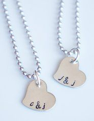 Charming Heart Initial Necklace