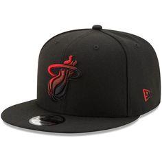 pretty nice 7b8da c72bc Miami Heat New Era Color Dim 9FIFTY Adjustable Snapback Hat - Black
