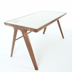 Maya desk, from Dare Studio. Walnut with corian top.