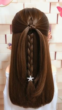 Never expected that this hairstyle would turn out so cute! Never expected that this hairstyle would turn out so cute! Hair Up Styles, Short Hair Styles Easy, Medium Hair Styles, Easy Hairstyles For Medium Hair, Braids For Long Hair, Braided Hairstyles, Simple Hairstyle Video, Simple Homecoming Hairstyles, Updo Hairstyles For Prom