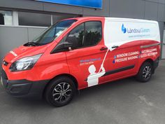 Van signage inspiration for Window Gleam commercial and residential window cleaners.