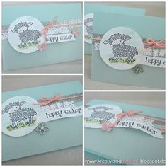 A Stampin' Up! Easter Lamb, Happy Easter, Stampin Up, Paper Crafts, Holiday, Blog, Cards, Paper, Spring Summer 2016