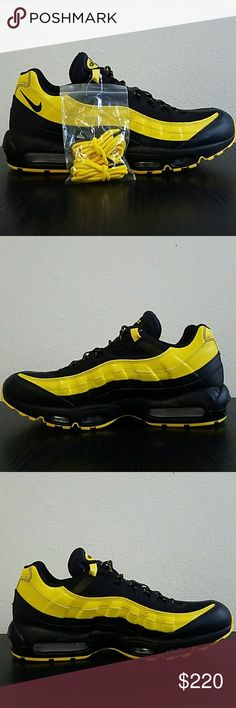 free shipping 2d8e8 d1611 Nike Air Max 95 Frequency Pack Nike 001 New Nike Air Air Max 95  Frequency  Pack  Nike 001 Color  Black Black-Tour Yellow-White Size 14 New without Box  Nike ...