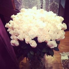 Nothing's more romantic than white roses.