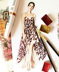 Marchesa dress fashion by @doll_memories
